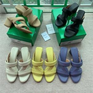 Bottega Veneta BV women's shoes BAND sandals thick heel slippers 651376