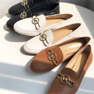 Michael Kors MK women's shoes leather loafers casual shoes