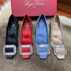 Roger Vivier RV women's Belle Vivier silk satin shoes