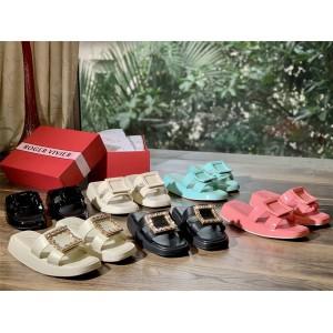 Roger Vivier RV women's shoes new Vivier Slide buckle sandals slippers