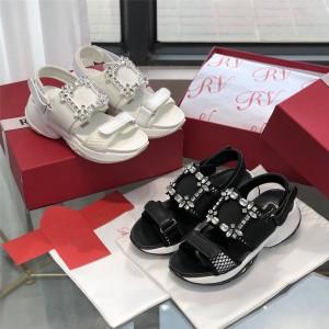 Roger Vivier RV women's shoes new Viv' Run diamond buckle sandals