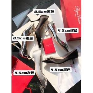 Roger Vivier RV Bouquet Strass diamond buckle leather high heels