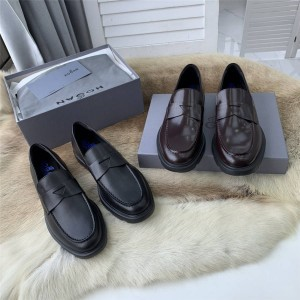 hogan men's leather casual H304 loafers leather shoes