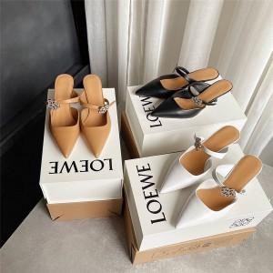 LOEWE ladies 2021 inlaid brick flower-shaped Mules half slippers