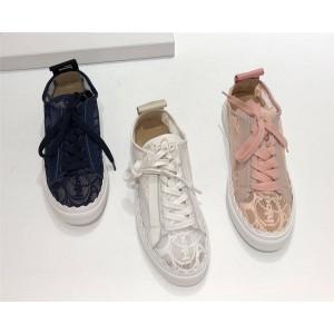 Chloe women's shoes Lauren lace casual low-top sneakers