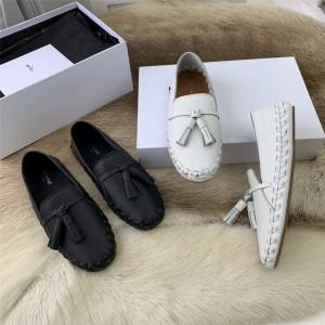 Celine official website women's leather driving shoes peas shoes
