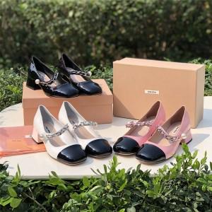 MIUMIU official website women's shoes NAPLAK leather high heels 5I485D