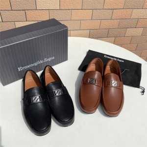 Zegna men's shoes calfskin highway driving shoes peas shoes