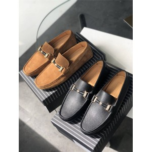Zegna men's leather casual shoes peas shoes driving shoes