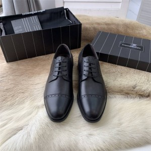 Zegna men's shoes new leather dress Derby shoes lace-up shoes