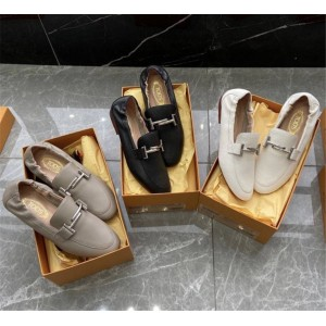 Tod's new women's shoes ladies leather loafers