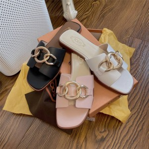 Tod's official website ladies high-end classic buckle slippers