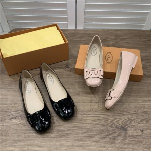 Tod's women's shoes new ladies patent leather ballet shoes