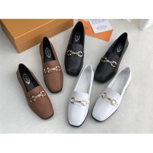 Tod's official website new leather loafers casual shoes