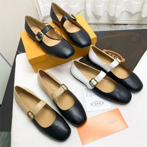 Tod's women's shoes vintage Mary Jane leather shoes single shoes