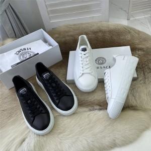 Versace Men's Greca Sneakers in Greek Key Grain Leather
