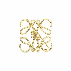 LOEWE official website LOGO Anagram metal brooch