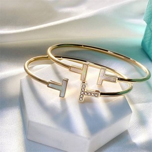 Tiffany Chinese official website T series diamond coil bracelet