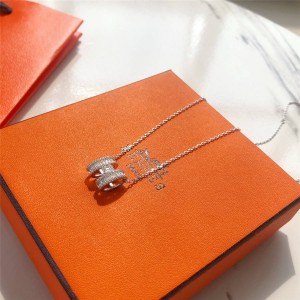 Hermes official website zircon Pop H series necklace clavicle chain
