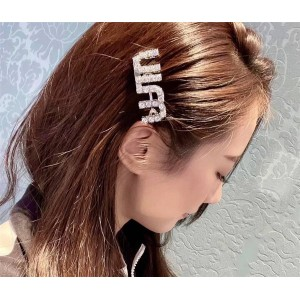 miumiu official website Kunling same style shiny letter hairpin