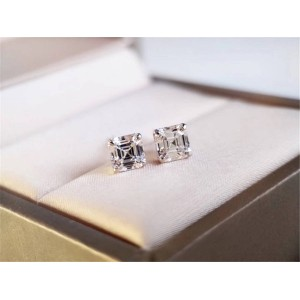 Bvlgari official website GRIFFE square diamond earrings