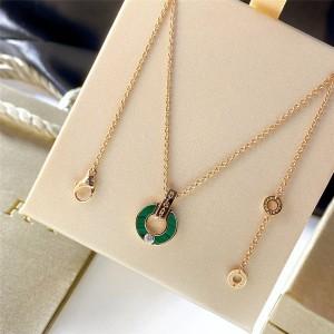 Bvlgari BVLGARI series malachite hollow necklace 357313