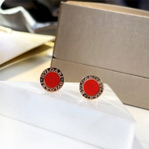 The new BVLGARI series round carnelian earrings 354728