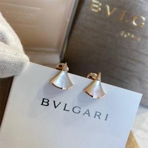Bvlgari white mother-of-pearl fan DREAM earrings 352600