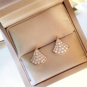 bvlgari full diamond fan-shaped DIVAS' DREAM series earrings 352601