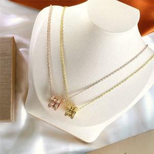 bvlgari B.zero1 Rock series stud and diamond necklace 357885