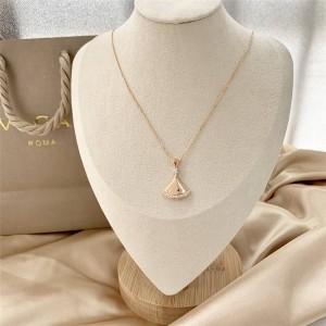 bvlgari fan-shaped large DIVAS' DREAM series necklace 350063