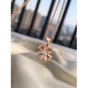 bvlgari rose gold Fiorever series necklace 355324