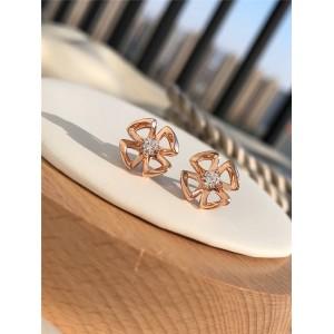 bvlgari official website Fiorever series rose gold earrings 355327