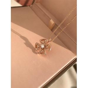 BVLGARI flower petals full of diamonds Fiorever series necklace 355885