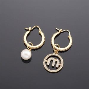 miumiu asymmetric pearl ring MIU PEARL earrings 5JO648