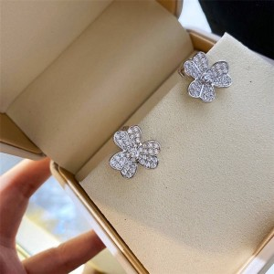 Van Cleef & Arpels VCA Clover Diamond Frivole Earrings