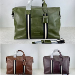 bally men's classic oil wax leather terret sm travel bag