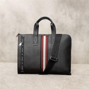 bally men's bag Henri black leather business bag briefcase