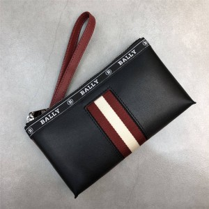 bally official website new striped BERYER men's leather clutch