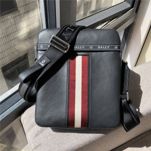 bally new men's bag striped stitching leather Holm diagonal bag