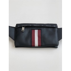 BALLY new men's calfskin striped HELVET waist bag chest bag