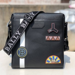 bally new badge SKILL series striped men's messenger bag