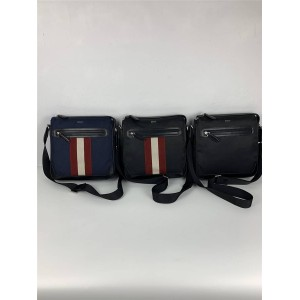 bally new striped Chandos men's nylon crossbody bag