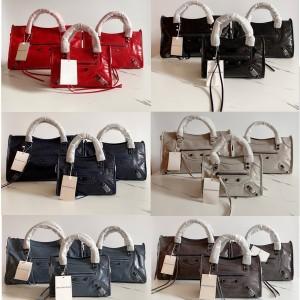 Balenciaga official website women's oil wax leather CLASSIC CITY handbag