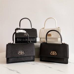 Balenciaga official website crocodile/lizard pattern mini SHARP crossbody bag