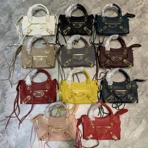 Balenciaga new goatskin CLASSIC GOLD MINI CITY handbag