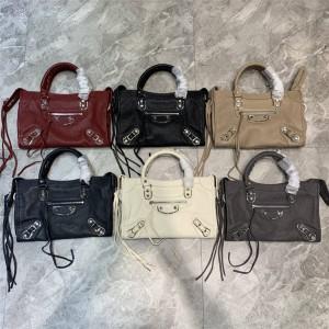 Balenciaga goatskin CLASSIC METALLIC EDGE CITY small handbag
