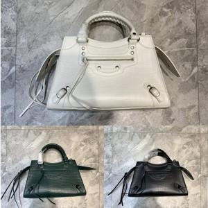 Balenciaga Neo Classic small crocodile pattern handbag 638521