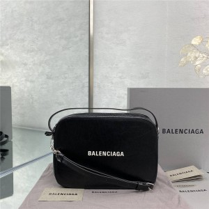 Balenciaga oil wax leather men's Everyday camera bag