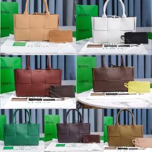 Bottega Veneta BV large square woven ARCO tote bag shopping bag